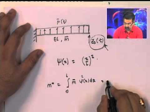 Mod-01 Lec-19 Generalized Single Degree of Freedom Systems Equations of Motions