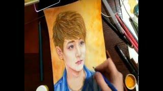 ( Watercolor Painting) Speed Drawing of Lee Soo Hyuk ( 이수혁 ) PART 2