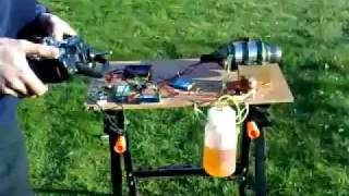Scale RC Plane Jet Engine On Test Bed....Really Noisey Eh Ratty!!!