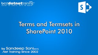 SharePoint :Managed Metadata Service Termsets and Terms in SharePoint 2010, Bestdotnettraining.com