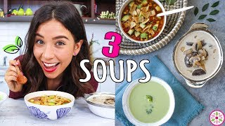 3 VEGAN SOUPS! Easy And Simple