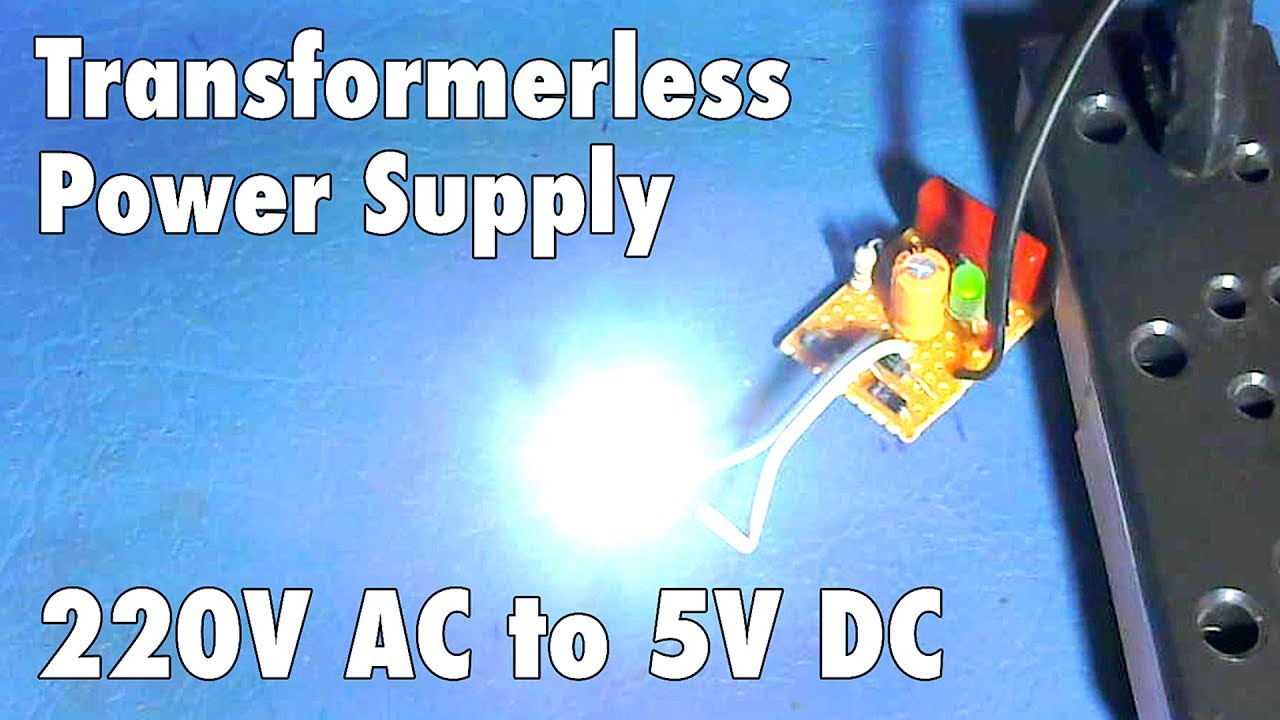 5v Transformer Less Power Supply