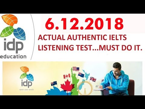 NEW Real IDP IELTS LISTENING PRACTICE TEST 2018 WITH ANSWERS |  IELTS LISTENING