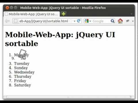 jQuery UI: sortable list