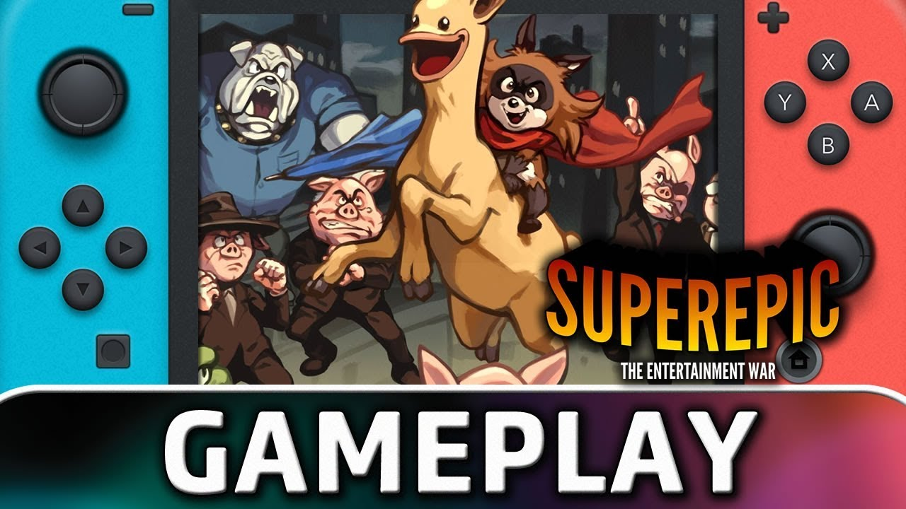 SuperEpic: The Entertainment War   First 20 Minutes on Nintendo Switch