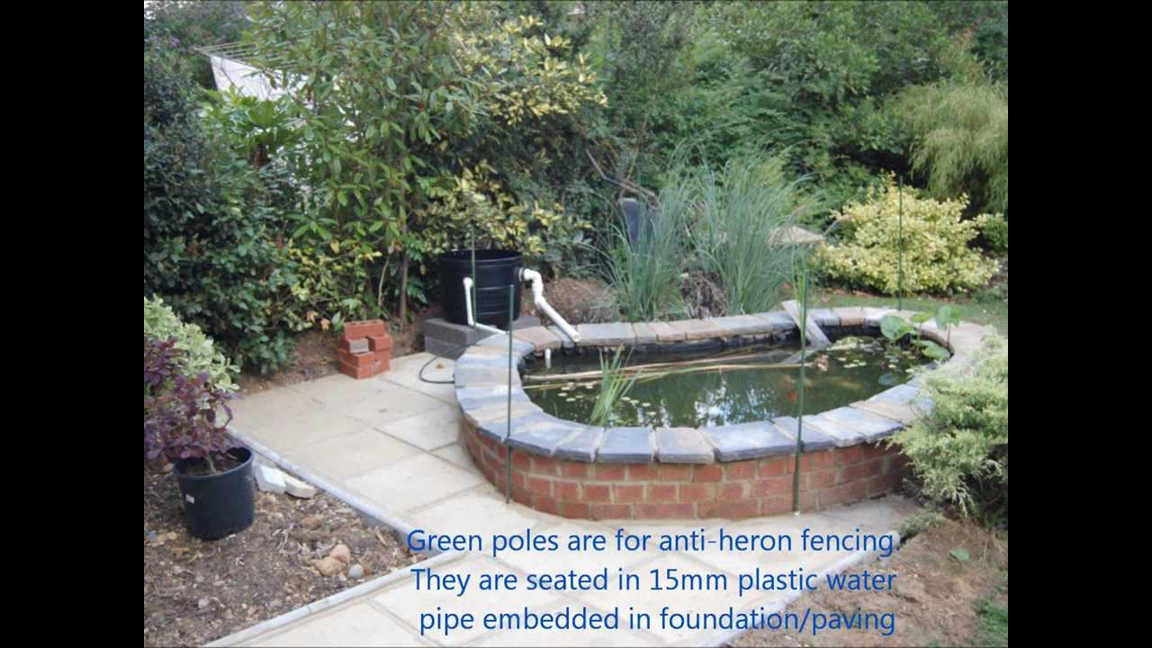 How to build a garden pond youtube for Making ponds for a garden