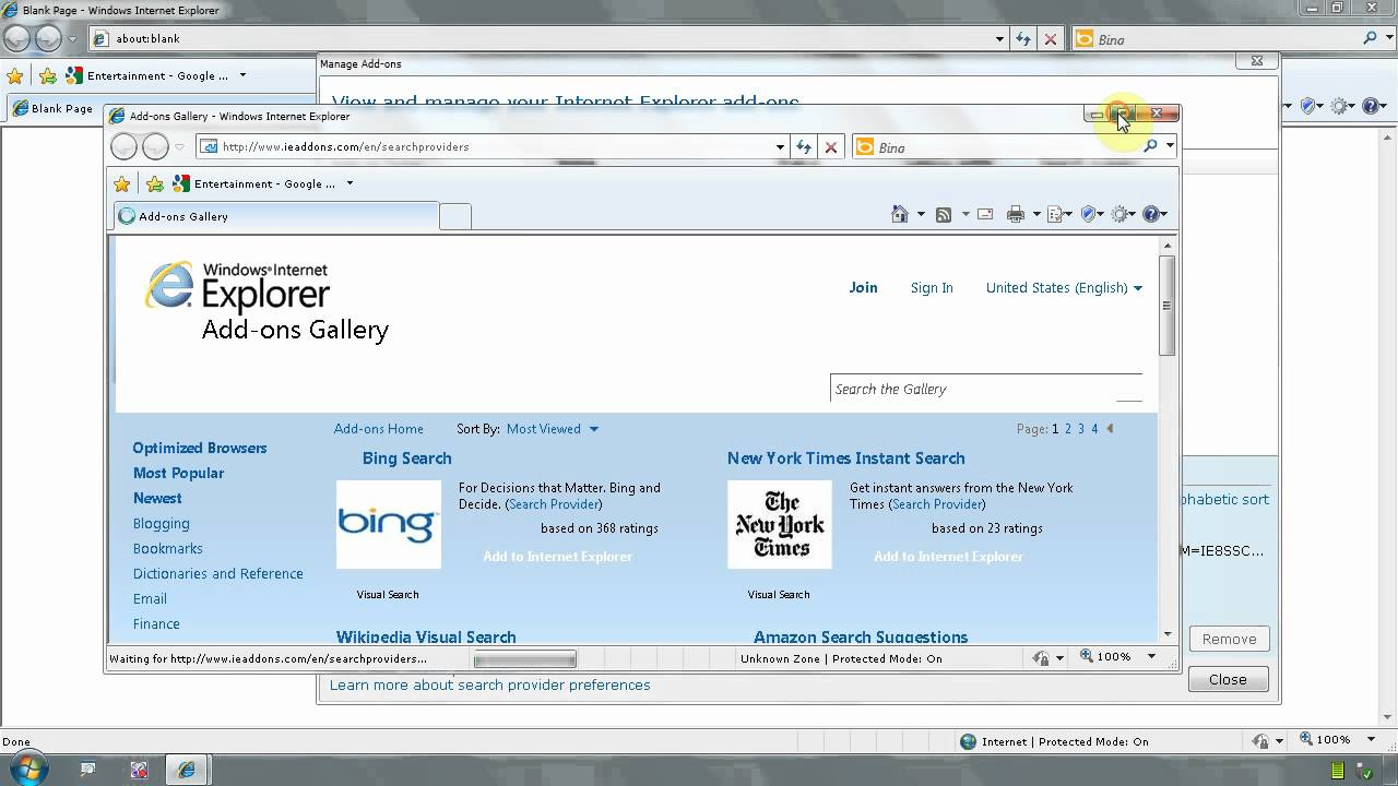 How To Change Internet Explorer Default Search Provider To ...