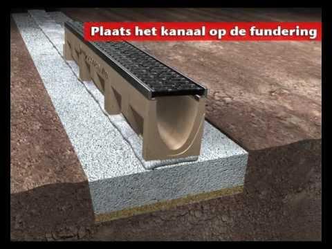 Aco drain multiline lijnafwatering youtube for Drain de garage installation