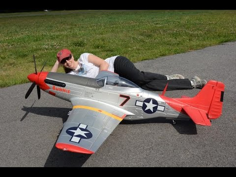 Fms 1700mm P 51 Mustang Red Tail With Killer Planes