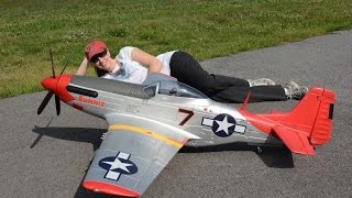 fms 1700mm p 51 mustang red tail with killer planes supermax crashproofing