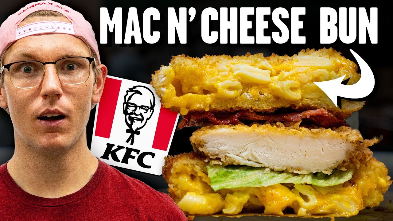 Recreating KFC's Mac and Cheese Sandwich (International Fast Food)