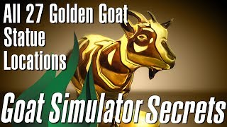 Goat Simulator - Every Golden Goat Statue Location