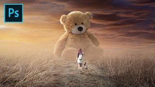 Photoshop CC Tutorial - Photo Manipulation - Big Teddy Bear