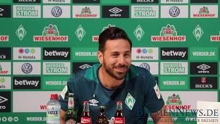 Claudio Pizarro in der Werder Mixed Zone [Komplett ] - FC Bayern München - Werder Bremen