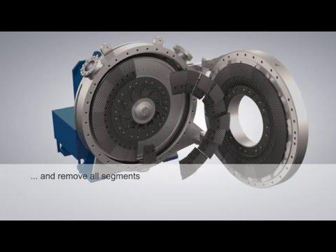 ANDRITZ PULP & PAPER MDF refiner plate installation