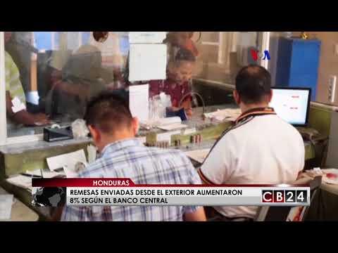 Remesas hondureñas enviadas desde el exterior en primeros trimestre de 2018 aumentaron 8%