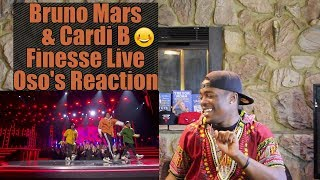 Bruno Mars and Cardi B - Finesse (LIVE From The 60th GRAMMYs ®) | Oso's Reaction