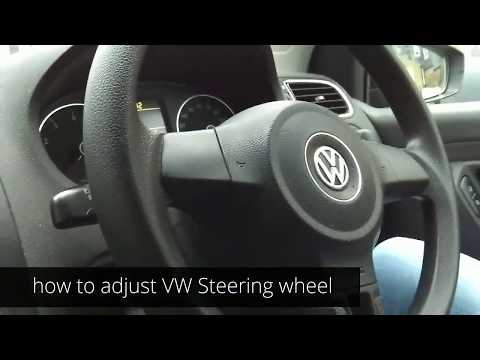How to adjust the steering wheel in a Volkswagen car | VW