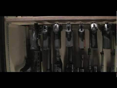 Homemade Pistol Storage Rack Build Youtube