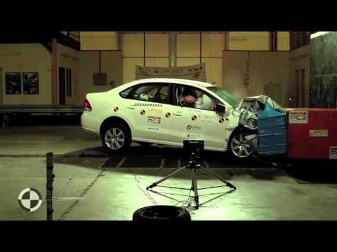 КРАШ ТЕСТ ФОЛЬКСВАГЕН ПОЛО, VW Polo Sedan crash test   4 star safety rating