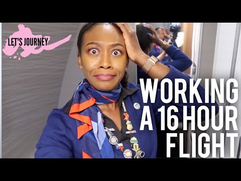 FLIGHT ATTENDANT LIFE | 16 HOUR FLIGHT