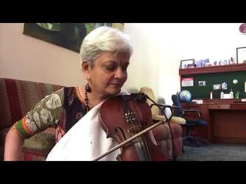 Dheere Dheere Machal .(Anupama)Old Hindi hit songViolin solo by Dr Sangeetha.