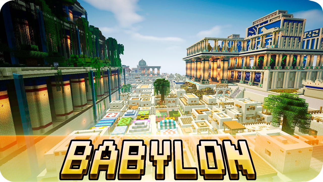 minecraft babylon city from ancient mesopotamia jerenvids youtube