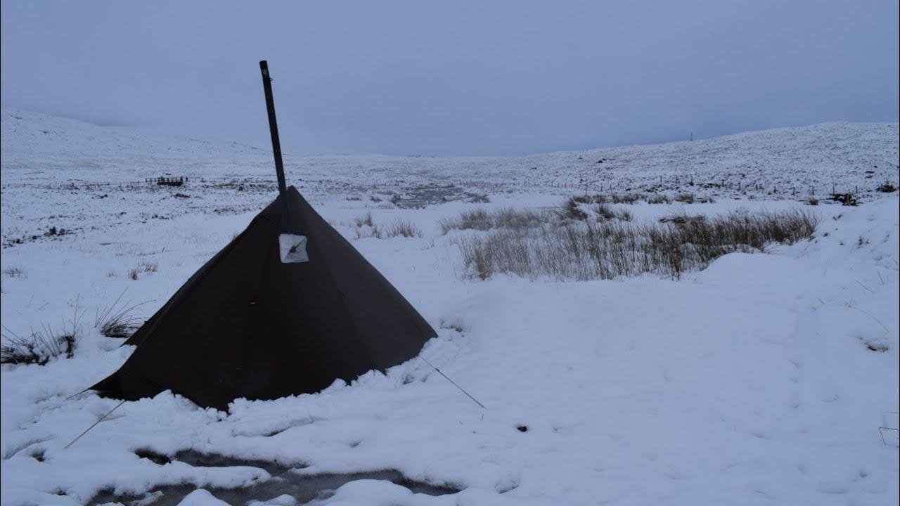 Wild camping Scotland. Extreme snow camp, day 3. Glencoe ...