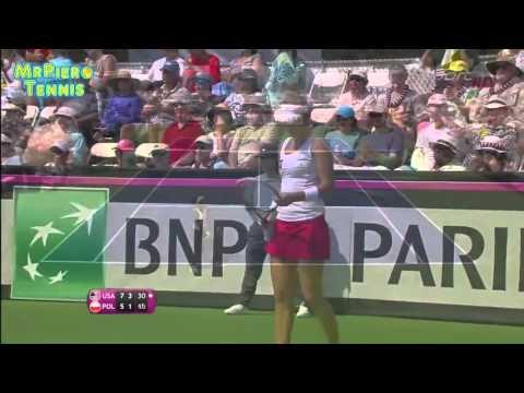 Venus Williams vs Paula Kania Fed Cup 2016 Highlights
