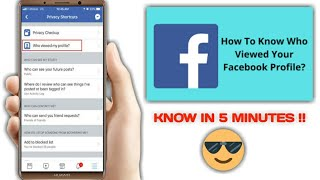 How To Know Who Viewed Your Facebook Profile ? || Android/IOS || Without Extra Software || 2021 screenshot 5