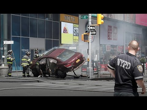 One dead after car 'ploughs into pedestrians in New York'