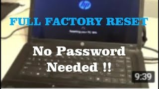 FACTORY RESET HP ACER DELL LENOVO or ANY Laptop/Netbook w/ WINDOWS 8 or 10 w/o the user password !!