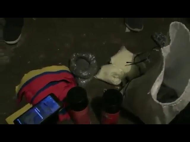 Capturaron a 'El Diablo' y a 'Chuiqui' con explosivos antes del paro