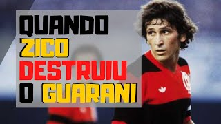 ZICO Vs Guarani (1982) // HISTORICAL match of GALINHO // Hat-trick