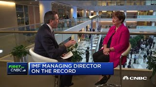 IMF's Georgieva: US-China tariffs could equal Switzerland's econ. by 2020 | IMF Annual Meetings 2019