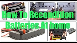 Learn how to recondition old batteries at home Best Tutorial 2017 Repair dead batteries