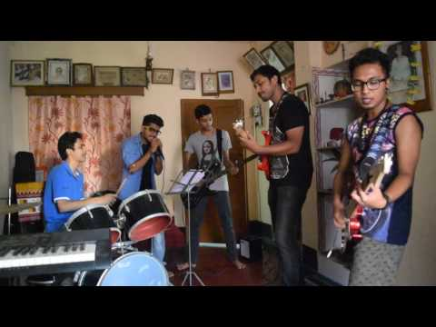 DnA rehearsing Fossils song Ekla Ghor