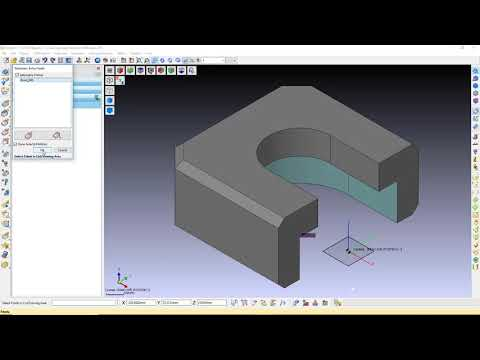 커브에 접하는 툴패스  | 상향 가공 | WORKNC 2020.0