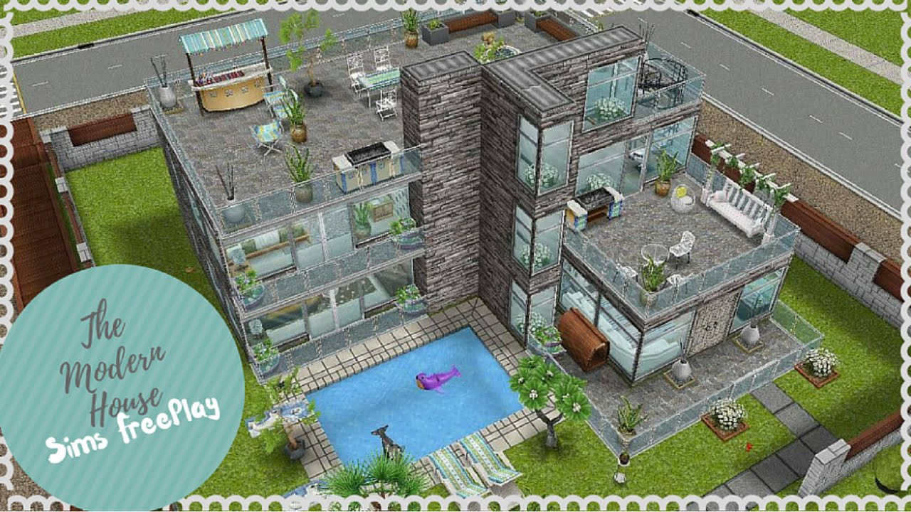 Let\'s Build Modern House | Sims FreePlay - YouTube