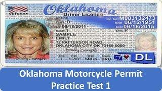 Oklahoma Motorcycle Permit Practice Test 1