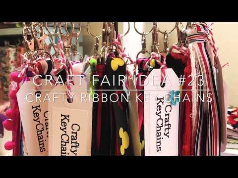 Craft Fair Series 2018-Crafty Ribbon Key Chains!