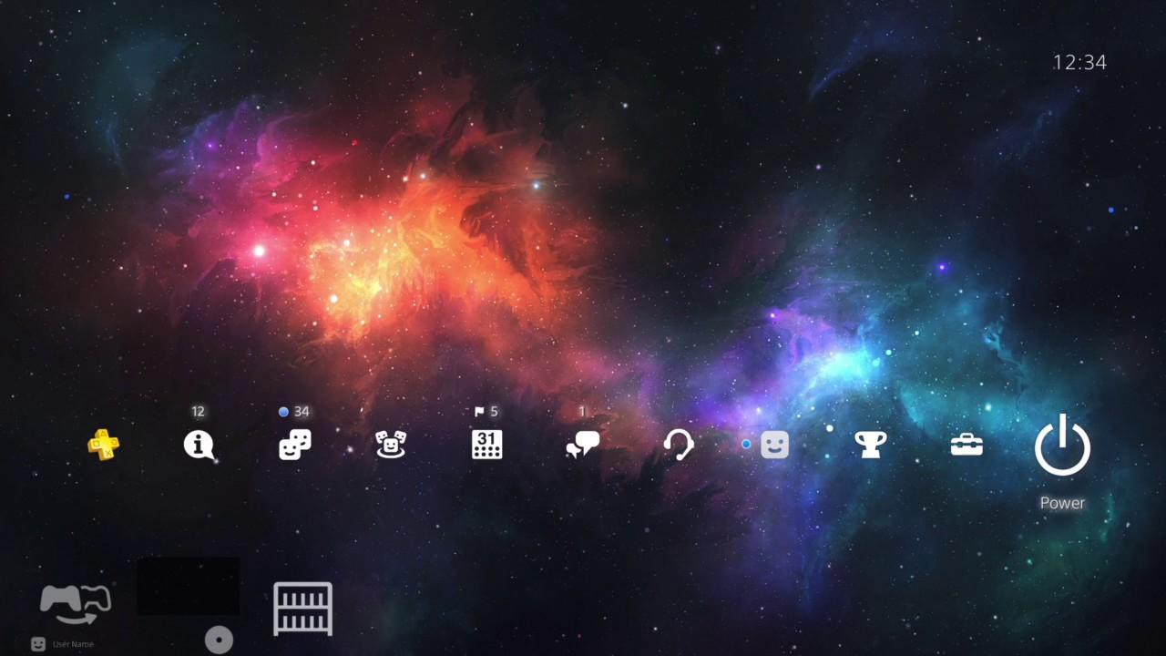 Colorful Galaxy 4K - PlayStation 4 Dynamic Theme - YouTube
