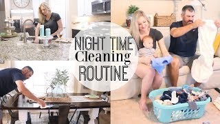 MY NIGHTTIME CLEANING ROUTINE 2018 | AFTER DINNER TIDY UP | CLEAN WITH ME