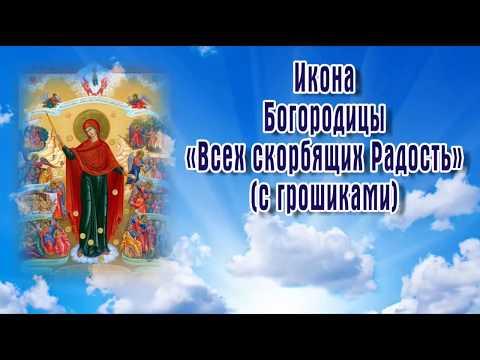 Икона Богородицы «Всех скорбящих Радость» с грошиками - 5 августа ПРАЗДНОВАНИЕ.