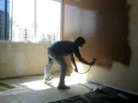 Aplicaci n de la pintura en paredes youtube - Pinturas de paredes ...