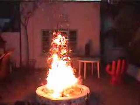 burning christmas tree - Mythbusters Christmas Tree