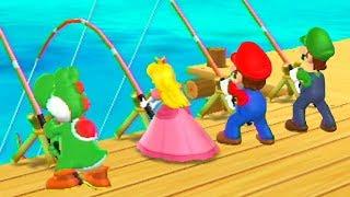 Mario Party 9 MiniGames - Mario vs Luigi vs Peach vs Yoshi (Master CPU)
