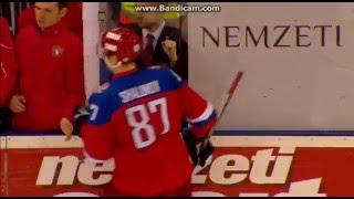 Хоккей. Венгрия -- Россия-олимпийская. Серия буллитов