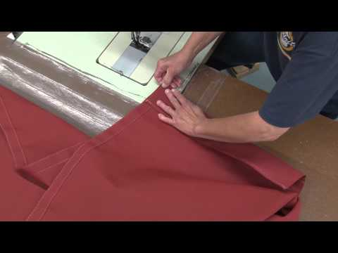Installing Lazy Jack Slits in a Sail Cover
