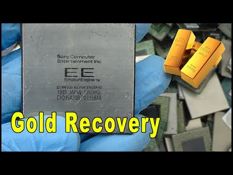 🎮Sony IC Chips Recycling | Gold Recovery from ic chips. Gold in gaming consoles